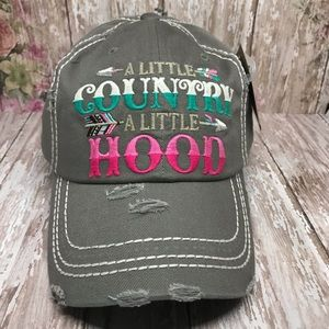 """A Little Country A Little Hood"""" Washed Vintage Cap"""